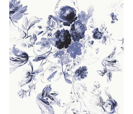 KEK Amsterdam Tapete Royal Blue Flowers III mehrfarbiges Vlies 389.6x280cm