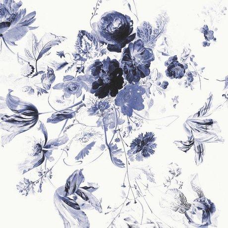 KEK Amsterdam Tapete Royal Blue Flowers III mehrfarbige Papierbahn 389,6x280cm