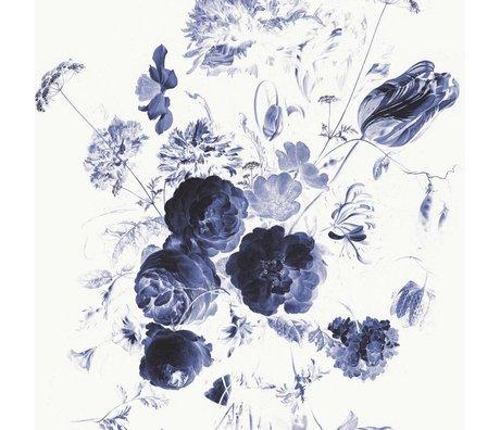 KEK Amsterdam Tapete Royal Blue Flowers I mehrfarbige Papierbahn 292,2x280cm