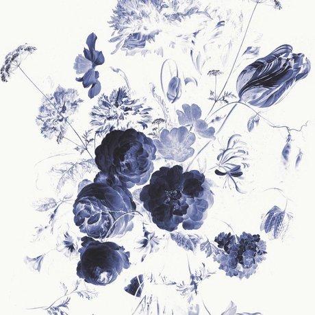 KEK Amsterdam Papier peint Fleurs bleu royal I papier intissé multicolore 292.2x280cm