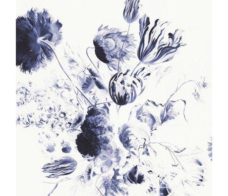 KEK Amsterdam Papier peint Papier intissé multicolore Royal Blue Flowers II 292.2x280cm