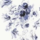 KEK Amsterdam Tapete Royal Blue Flowers III mehrfarbige Papierbahn 292,2x280cm