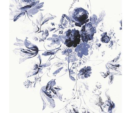 KEK Amsterdam Tapete Königsblau Blumen III mehrfarbiges Vlies 292,2x280cm