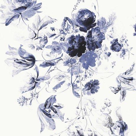 KEK Amsterdam Tapete Royal Blue Flowers III mehrfarbiges Vlies 292.2x280cm