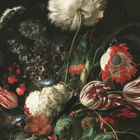 KEK Amsterdam Tapete Golden Age Flowers I mehrfarbiges Vlies Papier 194,8x280cm