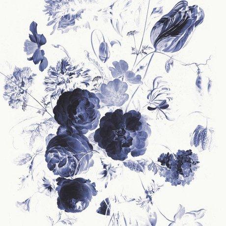 KEK Amsterdam Papier peint Royal Blue Flowers I papier intissé multicolore 194,8x280cm