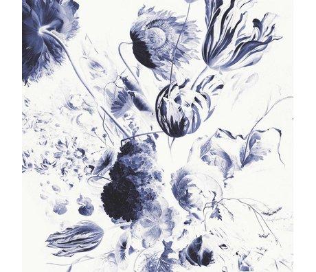 KEK Amsterdam Tapete Royal Blue Flowers II mehrfarbiges Vlies Papier 194,8x280cm