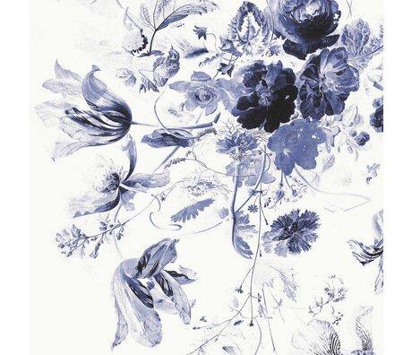 KEK Amsterdam Tapete Royal Blue Flowers III mehrfarbiges Vlies Papier 194,8x280cm