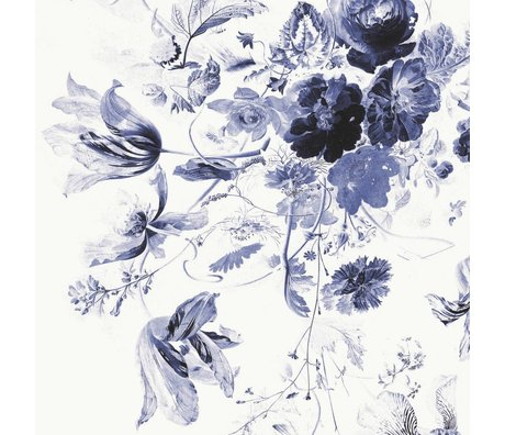 KEK Amsterdam Wallpaper Royal Blue Flowers III multicolor non-woven paper 194,8x280cm