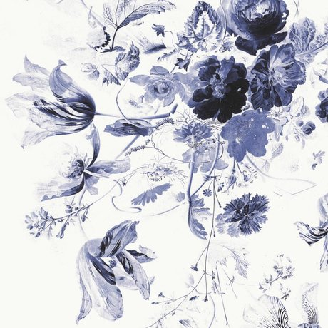 KEK Amsterdam Papier peint intissé multicolore Royal Blue Flowers III 194,8x280cm