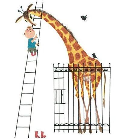 KEK Amsterdam Tapete Giant Giraffe mehrfarbiges Vlies Papier 243.5x280cm