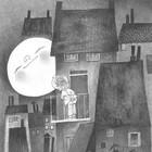 KEK Amsterdam Wallpaper Moonlight gray black white non-woven paper 194,8x280cm