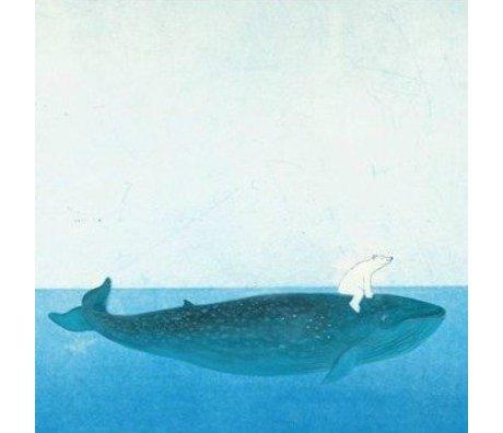 KEK Amsterdam Wallpaper Riding the Whale multicolour non-woven paper 389.6x280cm