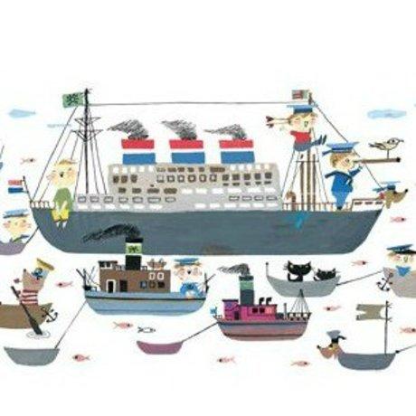 KEK Amsterdam Behang Holland America Line multicolour vliespapier 389,6x280cm