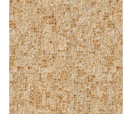 NLXL-Arthur Slenk Papier peint 'Remixed 2' papier 900x48,7cm crème / marron