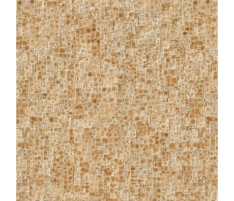 NLXL-Arthur Slenk Tapete 'Remixed 2' Papier 900x48,7cm creme / braun