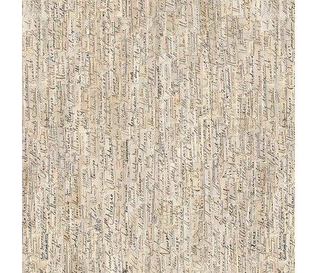 NLXL-Arthur Slenk Behang 'Remixed 3' papier 900x48.7cm creme/zwart