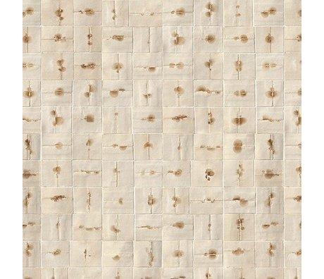 NLXL-Arthur Slenk Tapete 'Remixed 6' Papier 900x48,7cm creme / braun