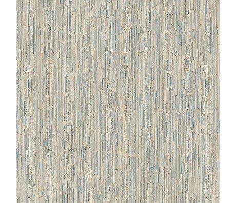 NLXL-Arthur Slenk Behang 'Remixed 7' papier 900x48.7cm creme/blauw