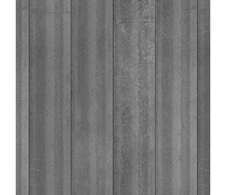 NLXL-Piet Boon Tapete Betonoptik Beton4, dunkelgrau, 9 Meter