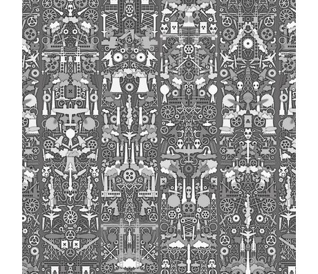 NLXL-Studio Job Tapete 'Industry 01' Papier 900x48,7cm grau / weiß