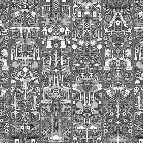 "NLXL-Studio Job Wallpaper ""Industrie 01"" Papier 900x48.7cm grau / weiß"