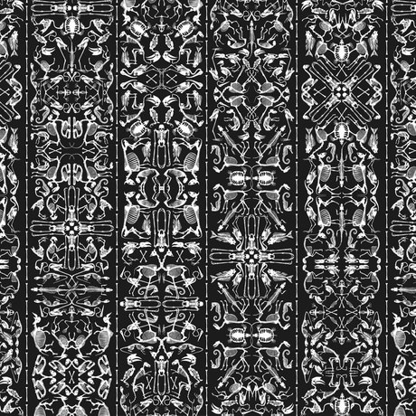 "NLXL-Studio Job Wallpaper ""Perished 03"" paper 900x48.7cm black / white"