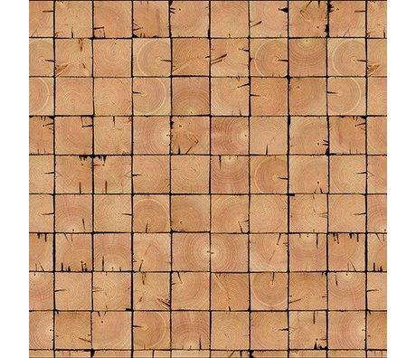 NLXL-Piet Hein Eek Wallpaper 'Scrapwood 09' paper brown 900 x 48.7 cm