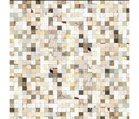 "NLXL-Piet Hein Eek Wallpaper 'Scrapwood 16 ""Papier weiß / braun 900 x 48,7 cm"
