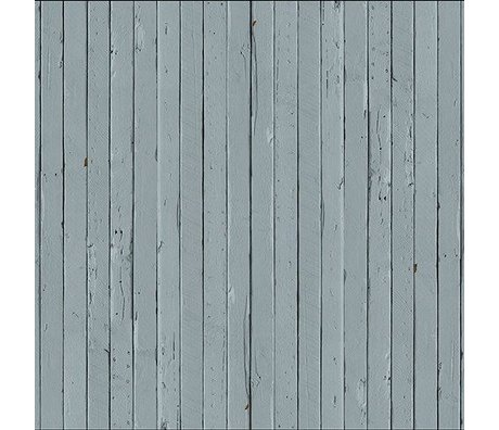 "NLXL-Piet Hein Eek Wallpaper 'Scrapwood 12 ""paper gray / blue 900 x 48.7 cm"