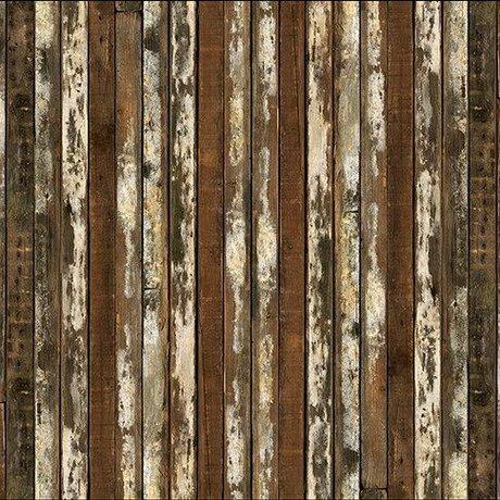 NLXL-Piet Hein Eek Wallpaper 'Scrapwood 13' Papier braun / weiß 900 x 48,7 cm