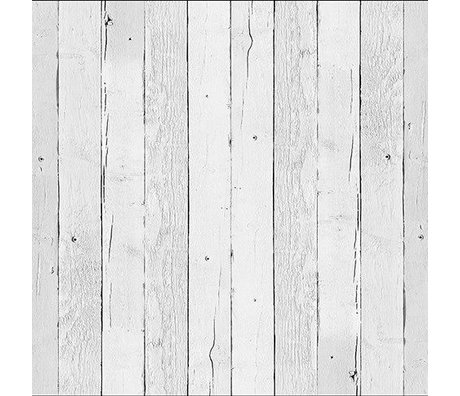 NLXL-Piet Hein Eek Wallpaper 'Scrapwood 11' paper white 900 x 48.7 cm