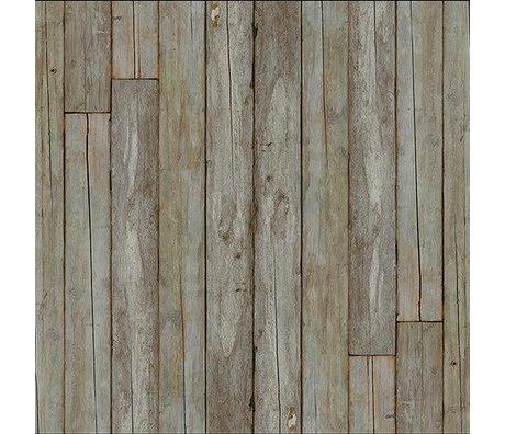 NLXL-Piet Hein Eek Papier peint 'Scrapwood 14' papier gris naturel / brun 900 x 48,7 cm