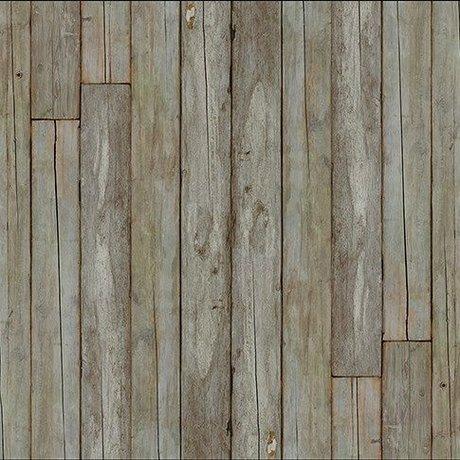 "NLXL-Piet Hein Eek Wallpaper 'Scrapwood 14 ""Papier-weiß grau / braun 900 x 48,7 cm"