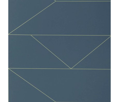 Ferm Living Lines wallpaper dark blue 10x0,53m