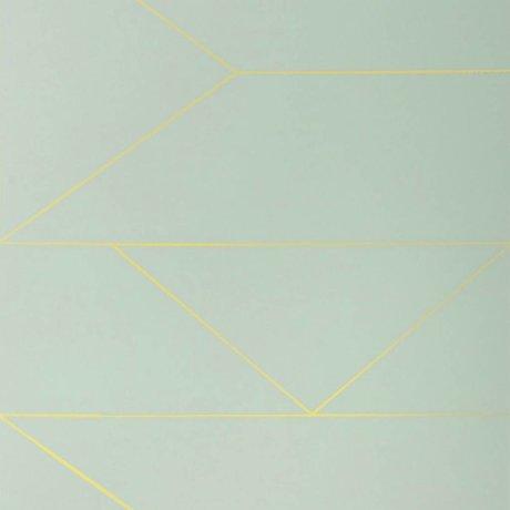 Ferm Living Fond d'écran Lines menthe 10x0,53m