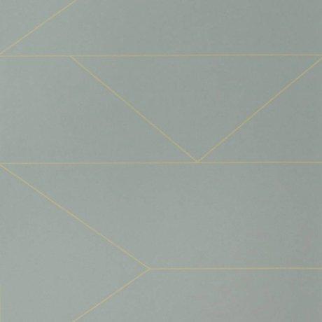 Ferm Living Papier peint Lines gris 10x0,53m