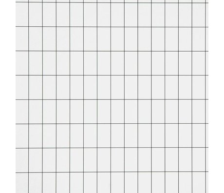 Ferm Living Wallpaper Grid black / white paper 10.05x0.53cm