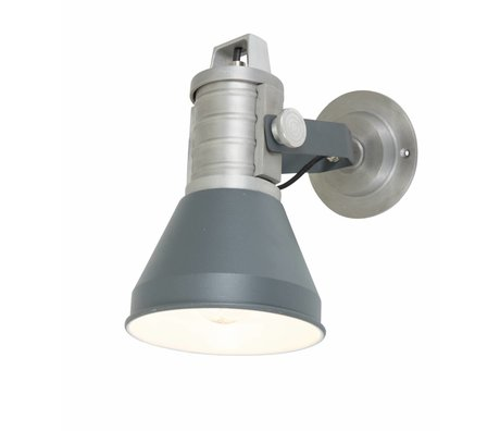 Anne Lighting Wall lamp Brusk anthracite gray metal ø16x35x27cm