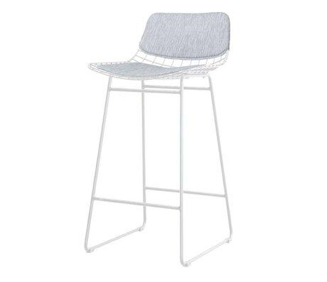 HK-living kit de confort métal gris barre de fil tabouret