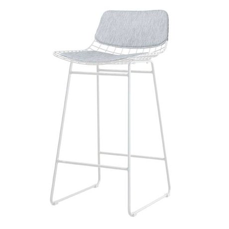 HK-living comfort kit gray metal wire bar stool