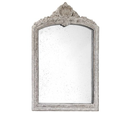 HK-living Mirror with antique look gray pottery 91x147x9cm