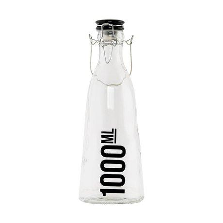 Housedoctor Fles transparant glas ø10x29cm