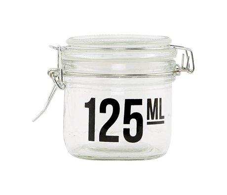 Housedoctor Verre transparent jar ø7x7cm