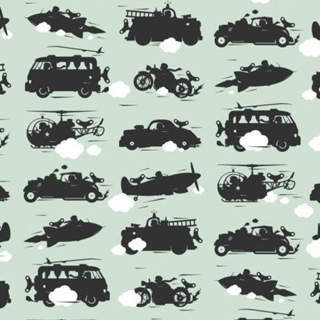 KEK Amsterdam Wallpaper green Toys for Boys 146.1 x 280cm 4m²