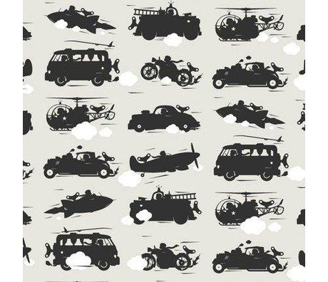 KEK Amsterdam Fond d'écran gris Jouets pour garçons 146,1 x 280 cm