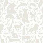 KEK Amsterdam Fond d'écran gris / blanc Bugs Alphabet 146.1 x 280 cm 4m