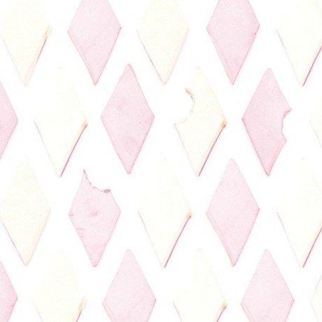KEK Amsterdam Papier peint rose / blanc Bacon 146,1 x 280cm 4m²