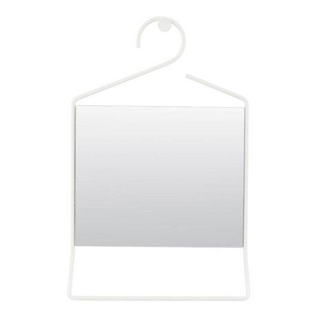 Housedoctor Hang white metal mirror glass 50x32x7cm