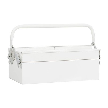 Housedoctor Storage boxes TOOL white metal 42x20xh11,5cm